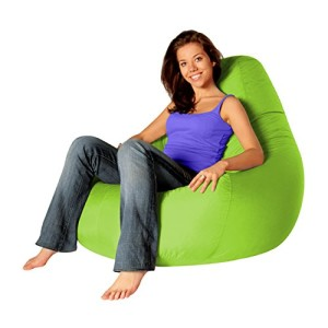 Designer Recliner Gaming Bean Bag LIME GREEN - Indoor & Outdoor Beanbag Chair (Water Resistant) by Bean Bag Bazaar®