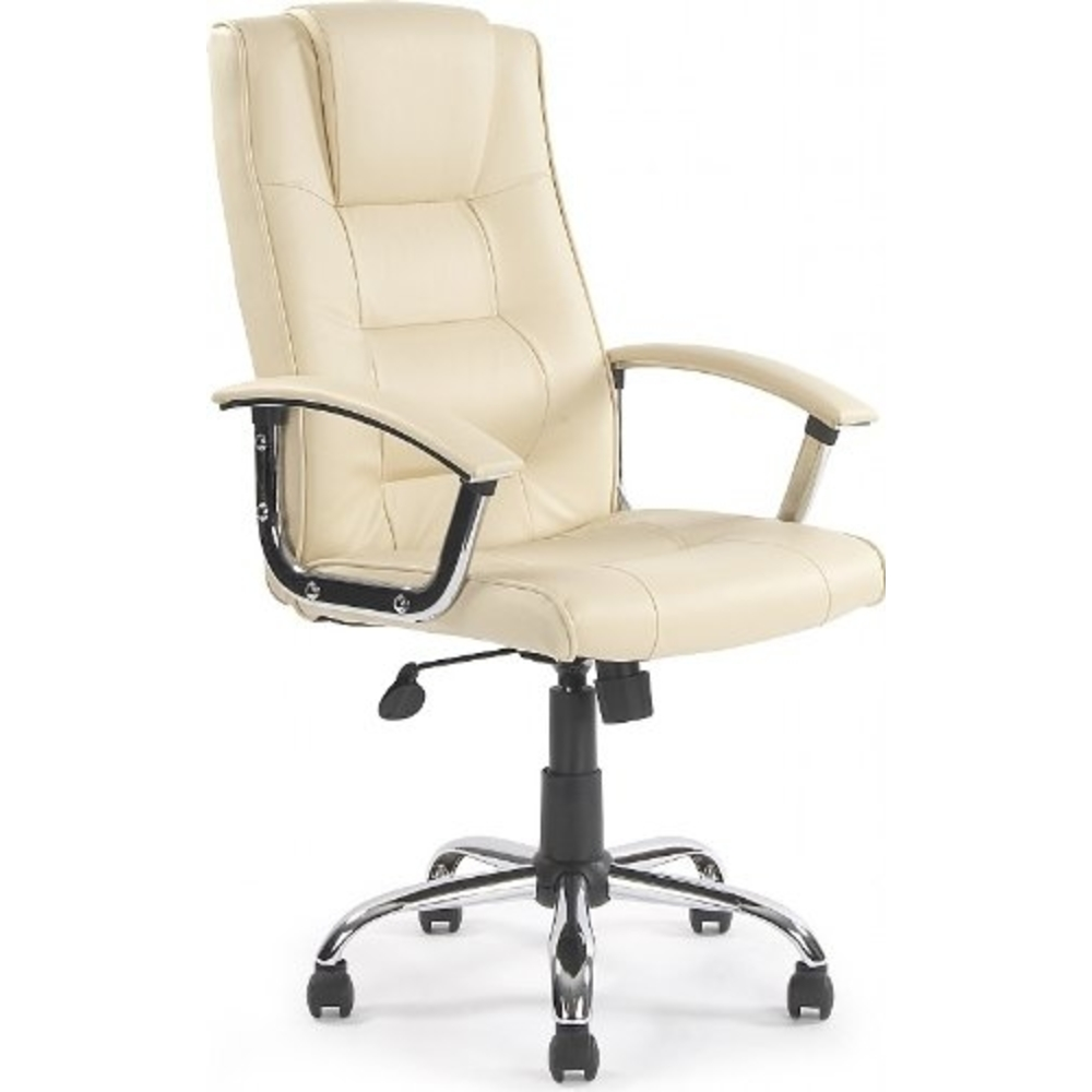 Melbourne Cream Leather Faced Executive Office Chair