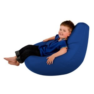 Hi-BagZ Water Resistant Kids Gaming Chair Bean Bag - Blue