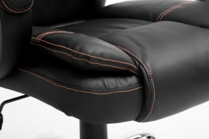Modern Design High Back PU Leather Chrome Base Office Chair In three Colors
