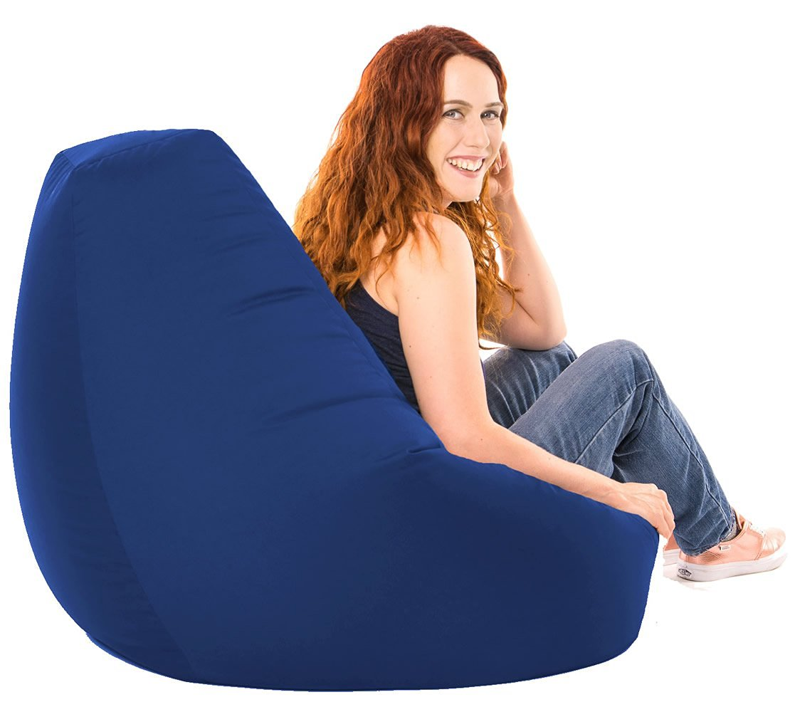 XX-L Blue Highback Beanbag Water Resistant Chair