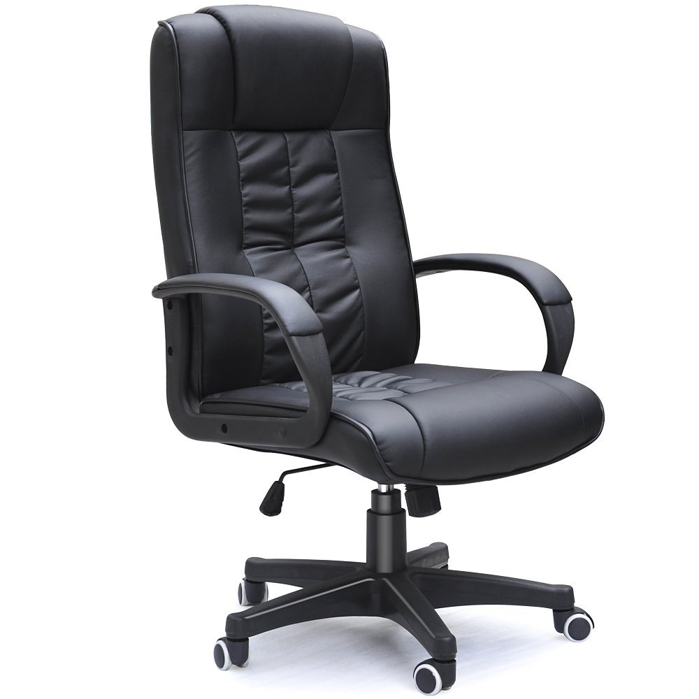 Padded Cow Split Leather High Back Office Chair