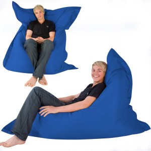 Hi-BagZ® 4-Way Bean Bag Lounger HUGE 180cm x 140cm - GIANT Outdoor Floor Cushion Bean Bags BLUE - 100% Water Resistant Beanbag