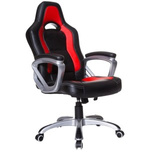 Cherry Tree Furniture Racing Sport Swivel Chair Black / Red