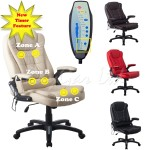 RayGar Luxury 6 Point Massage & Reclining Office Chair