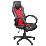 Miadomodo Office Swivel Chair (Black & Red)