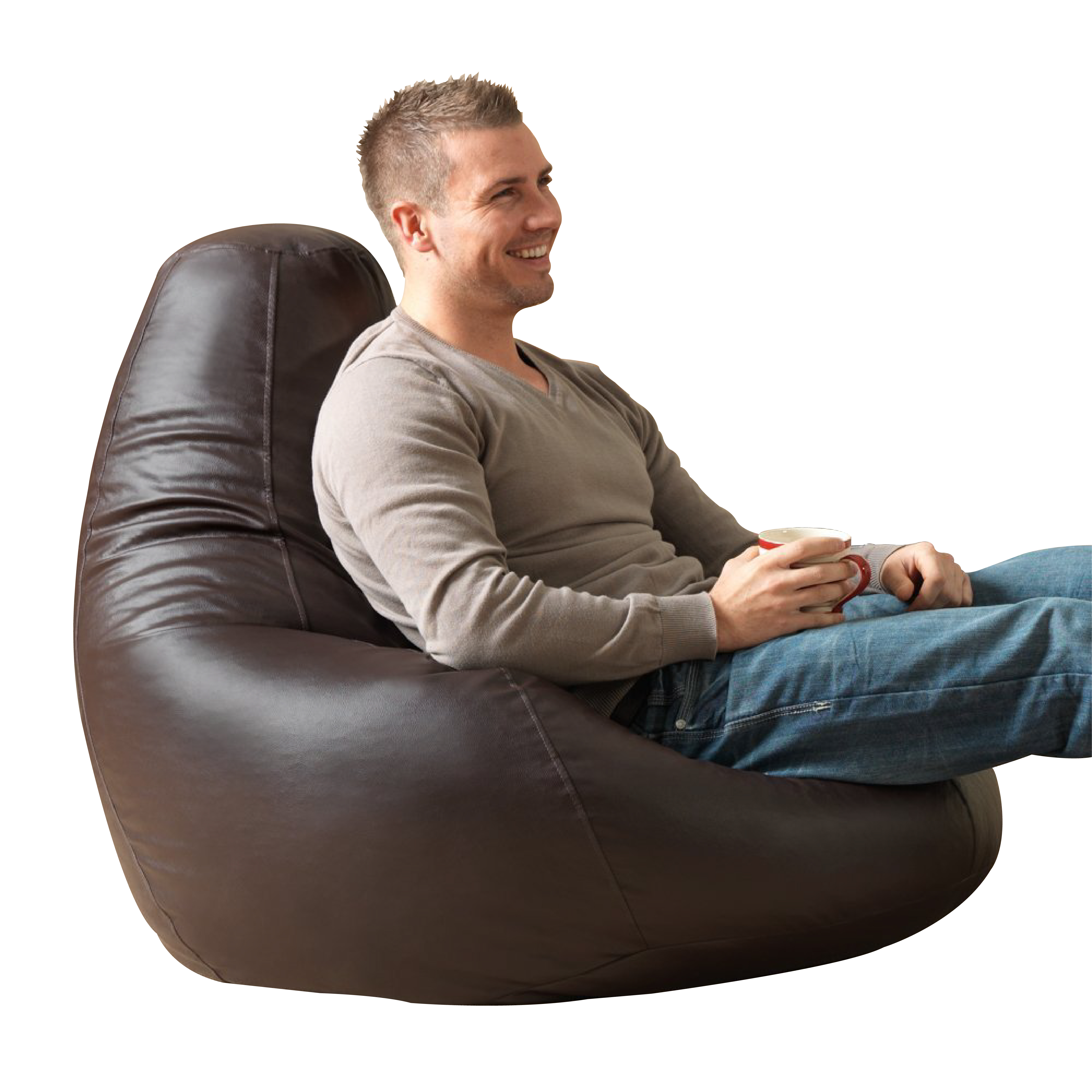 Bean Bag Bazaar® Extra Large Leather Gaming Bean Bag
