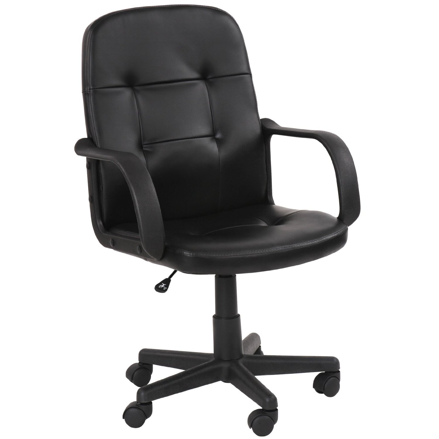 Miadomodo office swivel chair black ergonomic height for Swivel chairs for office