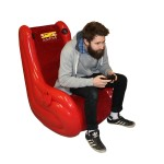 BraZen Flair Inflatable 2.0 Surround Sound Gaming Chair