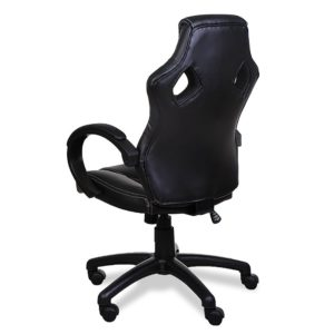Deuba Black Office Desk PU Leather Computer Racing Gaming Swivel Chair